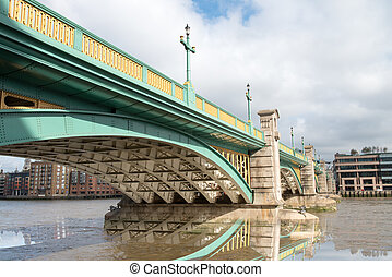 Southwark Bridge Reflections - London.