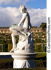 Statue at Sanssouci Palace in Berlin, Germany - Gardens of...