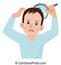 Men worry about hair loss