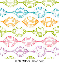 Colorful horizontal ogee seamless pattern background -...