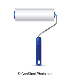 paint roller illustration design over a white background