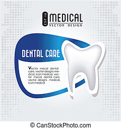 dental care icon  over gray background vector illustration