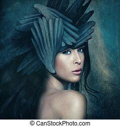 goddess - fantasy warrior goddess with helmet, small amount...