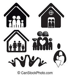 silhouette home over white background vector illustration