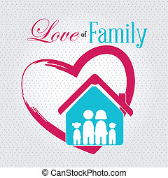 love of family over pink background vector illustration
