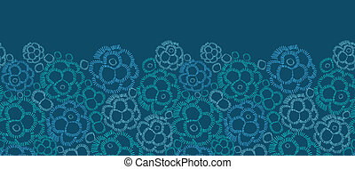Abstract underwater plants horizontal seamless pattern...