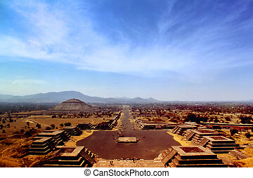 Précolombien, ville, Teotihuacan