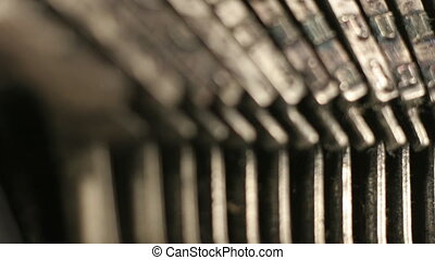 close-up of the the keys of an old typewriter. nice shapes...