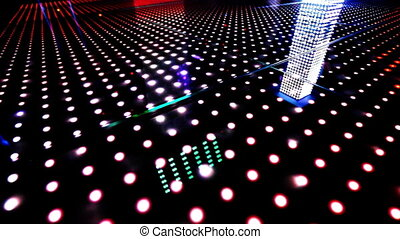 light patterns running across an led floor
