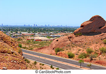 Greater Phoenix, AZ - Greater Phoenix Metro area as seen...