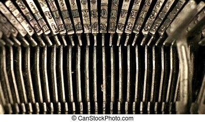 close-up of the the keys of an old typewriter. nice shapes and abstract patterns