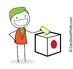 businessman vote