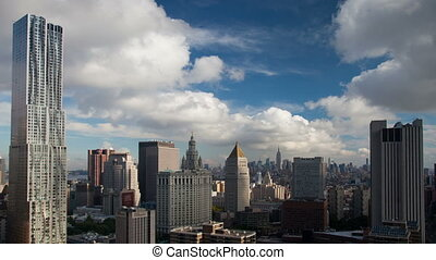 timelapse of midtown manhattan skyline and the new gehry...