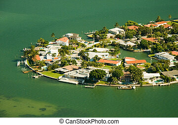 Buildings at the waterfront - Aerial view of buildings at...