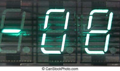 numerical digital display made from an LED clock counter