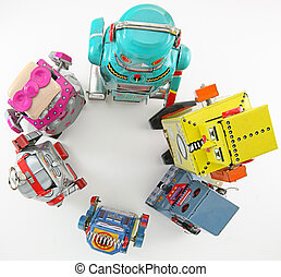 team - retro robot toys