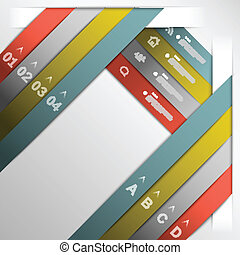 Ribbon option template eps10 vector illustration