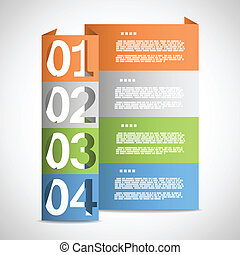 Paper options template eps10 vector illustration
