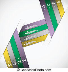 Paper ribbon template eps10 vector illustration