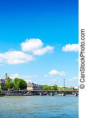 美麗, 巴黎人, 陽光, 街道, 看法