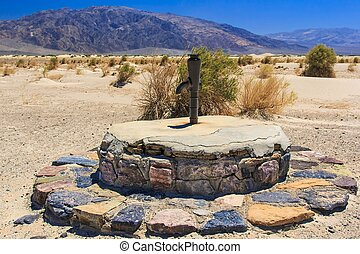 Old Stovepipe Wells is a historic water hole in the sand...