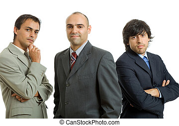 business men - three business men isolated on white...
