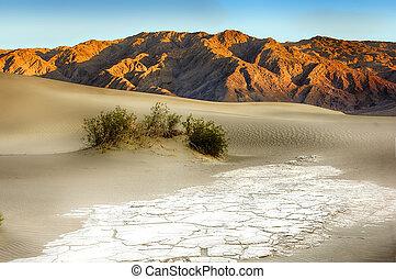 mortos, vale, Areia, dunas