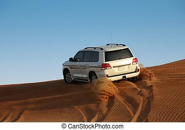 luxury car in the desert