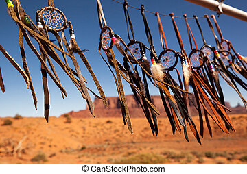 Dreamcatchers in a breeze, Monument Valley, Utah, USA....
