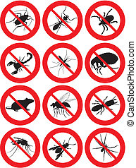 pests icon - warning sign, pest control, invasion species,...
