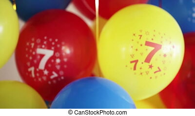 Number seven - Balloons with the number seven for children's...