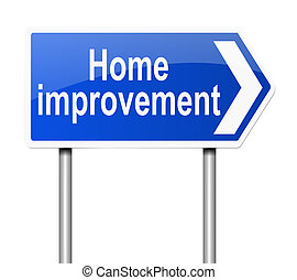 Home improvement concept. - Illustration depicting a sign...