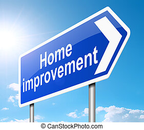 Home improvement concept - Illustration depicting a sign...