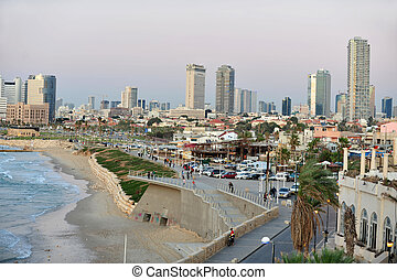 Jaffa - Israel - JAFFA, ISR - NOV 16: The skyline of...