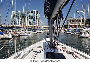 Herzliya Pituah - Israel - HERZLIYA,ISR- OCT 06:Sailing...