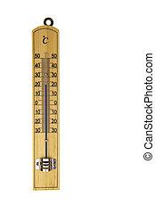 convencional, blanco, aislado, termómetro