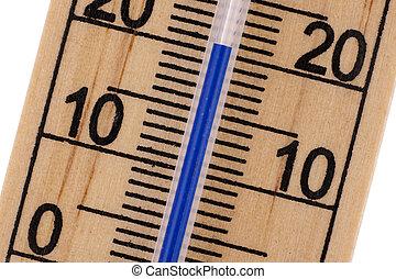 mercurio, habitación, oblicuo, Arriba, termómetro, cierre