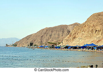 Eilat - Israel - EILAT, ISR - OCT 16:Camping tents on the...