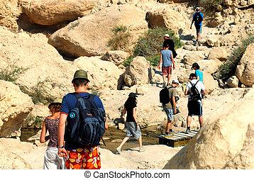 Ein Gedi Spring - Israel - EIN GEDI, ISR - SEP 27 :Visitors...