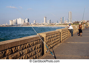 Jaffa - Israel - JAFFA, ISR - OCT 07: The skyline of...