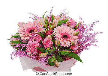 colorful flower bouquet arrangement centerpiece in vase...