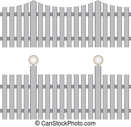 Classic fence - Two versions of the classic fence with...