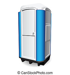 Portable toilet - Mobile toilet used in public places Vector...