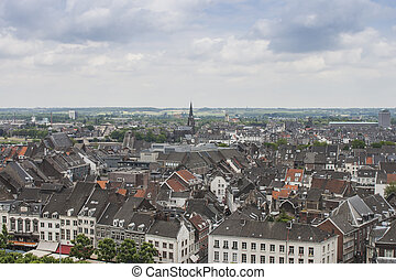 Maastricht - View on the medieval town of Maastricht in the...