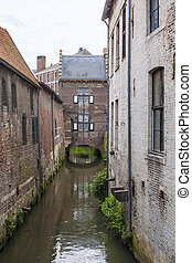 Medieval part of Maastricht in the Netherlands - Medieval...