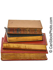 Antique books - Stack of antique books from the 19th century