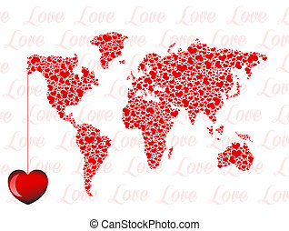 love in the world - illustration of love in the world