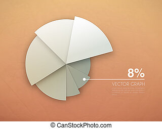 graph diagram vector pie chart