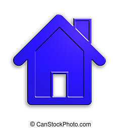 plastic house icon. clipping path. - plastic house isolated,...