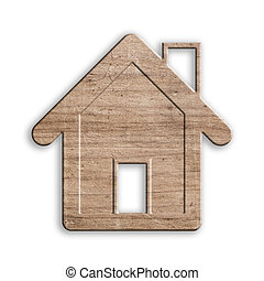 wooden house isolated, with clipping path. - wooden house...